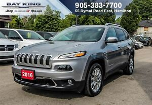 "2016 Jeep Cherokee LIMITED, BLUETOOTH, BACK-UP CAM, 8.4"" DISPLAY"