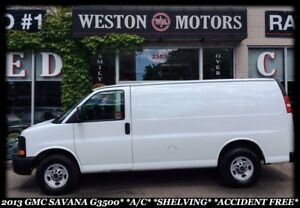 2013 GMC Savana 3500 A/C* SHELVING* ACCIDENT FREE!!!*