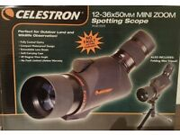 Celestron Mini Zoom 12 - 36 x 50 mm Spotting Scope - Brand new in box.