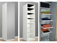 IKEA PAX White Wardrobe with mirror door + 4 pull-out trays + 2 shelves