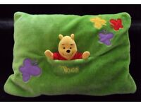GREAT CONDITION! Disney Winnie the pooh bear pillow with pocket and side zip
