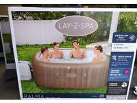 Lay z spa Palma (same as Maldives )inflatable hot tub luxury tub 7 adults