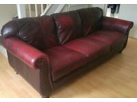 Beautiful Vintage Oxblood leather sofa