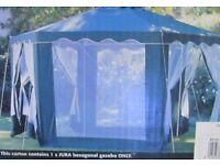 Green hexaganol Gazebo, very good condition. Little used