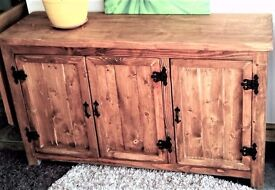 CHUNKY RUSTIC SOLID WOOD SIDEBOARD