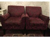 2 BEAUTIFUL ALL OVER FLORAL PRINT ARMCHAIRS