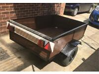 CAR TRAILER 5ft x 3.6ft wooden with metal frame