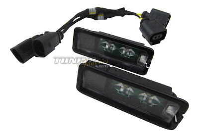 2x Original Seat LED License Plate Light+Canbus Connection Cable #1K