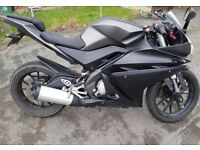 Yamaha YZF-R125 125cc ABS Matt Grey £3000 2017 model (66 Reg)
