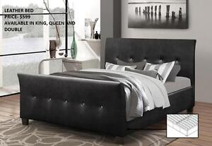 LEATHER BEDS ON SALE!!! SPECIAL REDUCED PRICE (IF40)