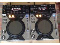 Pair of Pioneer CDJ 400s £350 ONO! Play music on CDs and via USB!