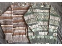 """2x Antartex Country `vintage` jumpers , size medium 38-40"""" , used but excellent condition"""
