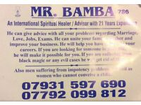 MR BAMBA spiritual healer advisor with 21 years experience