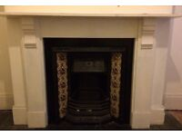 Beautiful Original Victorian Cast iron Fireplace With Tiled Inset