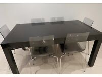 Dwell Black 8 Person Dining Table £55