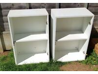 TWO KITCHEN WALL CUPBOARD CARCASSES