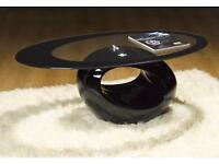 Stylish Glass Oval Coffee Table