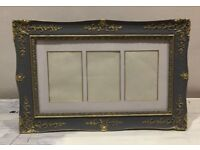 Grey / gold picture photo frame