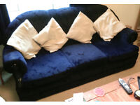 Three seater sofa and armchairs