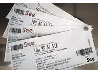 You Me At Six tickets - Manchester - 02/04/2017