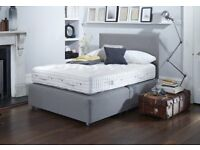 vispring shetland king size 5ft 150x200cm divan bed & headboard, Purple. RRP £8,530. vi-spring