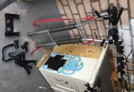 Tow bar mounted, bike carrier for a car