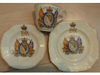 H.M Queen Elizabeth II Coronation Plate Cup & Saucer