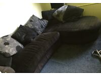 Black and Grey Corner Sofa in good condition approx 190cm x 260cm from a pet and smoke free home