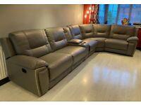 6 Seat Recliner Corner Sofa | Harveys Reid Hedgemoor | Graphite Grey | RRP £2600