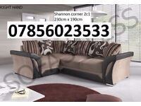 Clearance stock DFS CORNER SOFA Couch FABRIC LEATHER BROWN BEIGE also Cuddle Chair