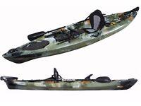 PRO DACE ANGLER 3.6M Single OCEAN FISHING KAYAK SEA CONOE PACKAGE CAMO