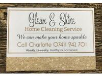 Gleam & shine house home cleaners domestic cleaner