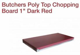Butchers Poly Top Chopping Board 1 Dark Red 2x2ft