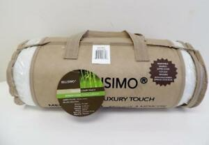 New, Bellisimo Bamboo Luxury Touch Memory Foam Pillow Queen