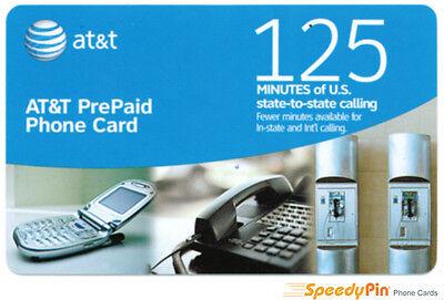 AT&T 125 Minute Prepaid Phone Card (Calling Card) - 3 Pack Sale