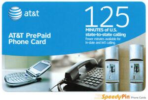 AT&T 125 Minutes Prepaid Phone Card (Calling Card) Sale