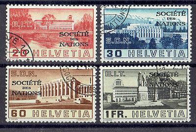 Schweiz Genfer Ämter o  MiNr SDN 57-60 Völkerbund