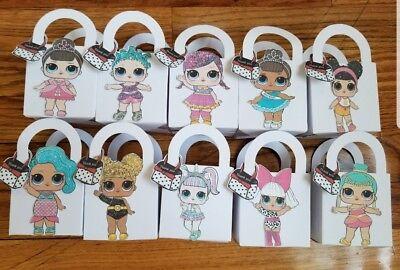 Lol Surprise Dolls 10pc Treat Box favor box popcorn birthday party baby shower - Popcorn Boxes Baby Shower
