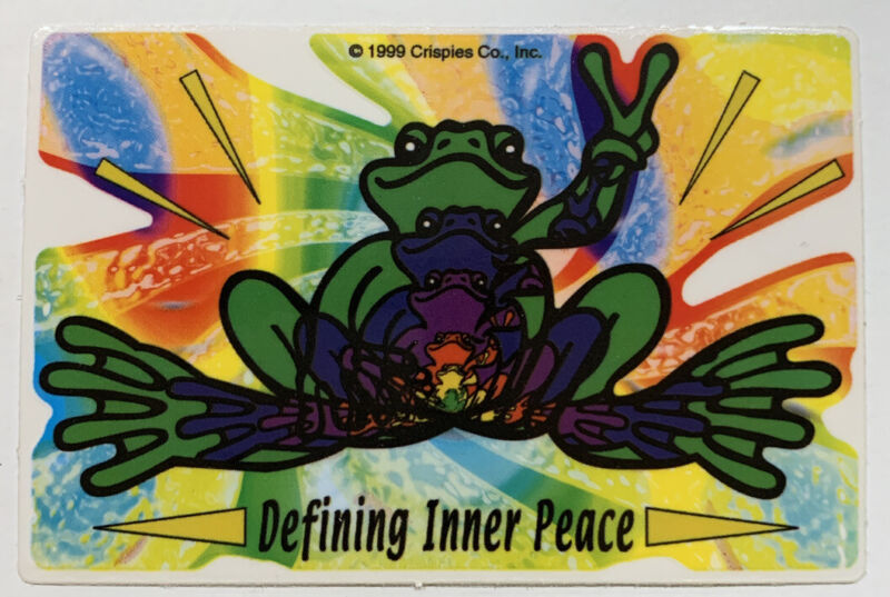 "Peace Frogs Sticker/Decal~1999 ""Defining Inner Peace""~ Hydro Flask, Car, Outdoor"