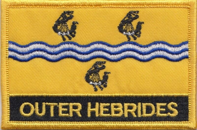 Outer Hebrides Scotland Flag Embroidered Patch - Sew or Iron on