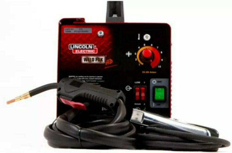 Portable Weld Pack HD Wire Feed Welder Lincoln Electric 115V 35-88Amp Flux Cored