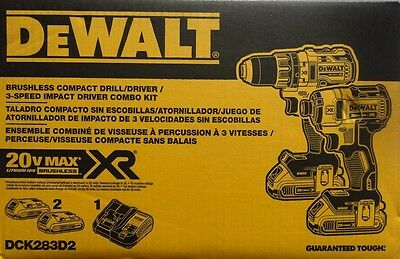 20-Volt Max XR Li-Ion Cordless Brushless Compact Drill/Impact Driver Combo Kit