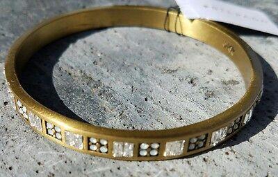 (SILPADA KR Brass Swarovski crystal rhinestone Bangle Bracelet NWT ~ KRB0007)