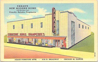 Linen Advertising Pakan Furniture Store Chicago Illinois 1940s