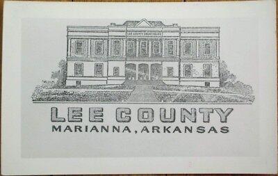 Marianna, AR 1950s Realphoto Postcard: Lee County Court House