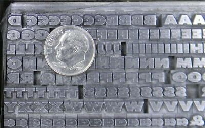 Alphabets Metal Letterpress Type 14pt Twentieth 20th Century Ex Bold  Mm53 4
