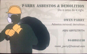 Parry asbestos & demolition Mayfield East Newcastle Area Preview