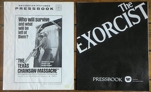 Classic Horror Pressbooks Texas Chainsaw Massacre & The Exorcist