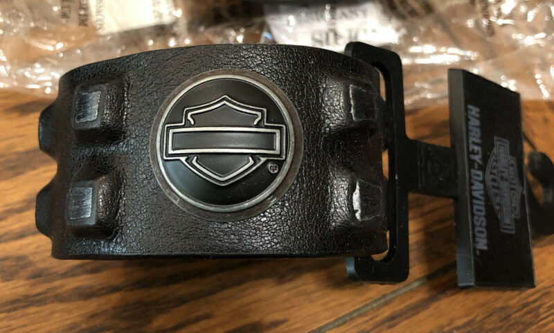 Harley Davidson Midnight Rider Cuff Black Leather Snap Bracelet HDMCU10316