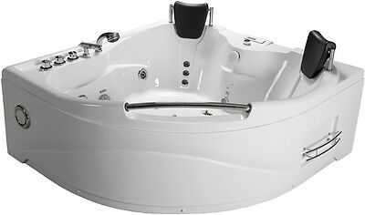 Indoor Hot Tub - 2 Person Indoor Hot Tub Jetted Bathtub Sauna Hydrotherapy Massage SPA + Shower